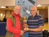 Runner up Phillip Jones 15lb 8oz caught 2 fish receiving his trophy from Dave White British Pike Final 2017