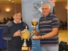 Champion Bob Goodwin receiving his Trophy from Dave White 2017